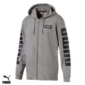 Men's Puma fleece Fullzip Hooded top (850074-03)(Option 1) x7: £14.95